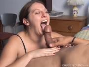 Breasted Babe Sucks Dick