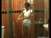asian girl in shower