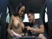 Ebony Chick Pounds Needy Boner In The Backseat