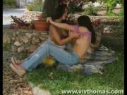 2 Sexy Lesbo Gals Jam Dildo Up Each Other\'s Vagina