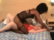 interracial lesbians lick and rub
