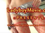 Ladyboy Sky Fucked Bareback