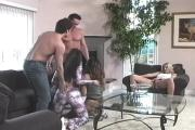 Horny Bi-Babes Get Off For Party