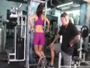 Brittany fucked by her personal trainer at the gym