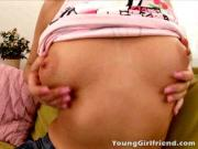Pretty Girlfriend\'s Pussy Licked And Probed
