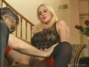 Hot Blond Licks Fat Cock