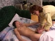 wake him with a blowjob