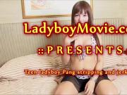 Ladyboy Pang Jerking Off