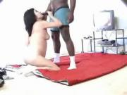 Aroused Brunette Pounded By Black Cock