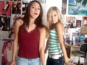 Two Sexy Teens are Dancing to Lady Gaga