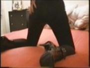Lack heels nylon pvc rubber sex girl