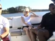 Very Sexy Blonde Fucked Hard By Lucky BBC On Boat