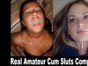 Real Amateur Cum Sluts - Best of Homemade Facials
