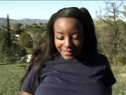 Ebony Big Tits Sierra in 4some