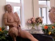 Blonde wench pussy fucked after BJ