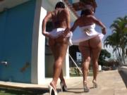 Justin Slayer and Nat Turnher take on two Brazilian asses
