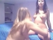Two lesbian sluts in front of webcam