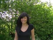 Beautiful brunette in a creampie in the mercedez benz