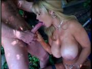 Big tits blonde banged hard & jizzed on