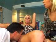 British slut Michelle B in another FFM threesome