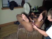 lil black slut frm iowa gets tied up
