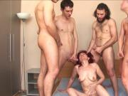 russian mature janna gangbang part 2