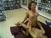 Busty babe fuck a guy on the store