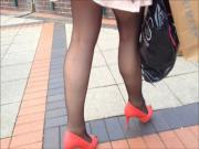 black tights and new heels