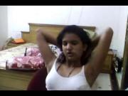 Horny desi indian babe Latika strip nude show
