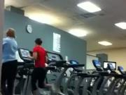 Sexy runner at gym and playing with my cock by JnaNudist