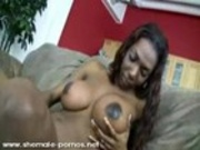 Black Transsexual Jerking Off