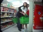 Asian sex in a crowded Mini Mart