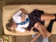 Blonde gets a Special Japanese Massage