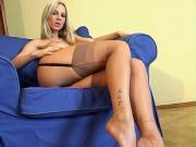 Czech Brit shows her legs in FF Nylons