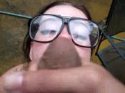 Dorota Matusiak with glasses in the backyard