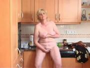 Suzi's solo jackoff in kitchen