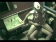Couple caught fucking in public Bathroom