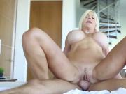 AMAZING SEXY BLONDE MILF!!! Best way to wakeup