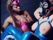 Ebony in latex takes control