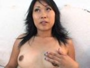 Nervous Japanese girl is too nice for porn