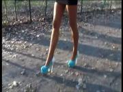 LGH - Tamia - High Heels Walk auf dem Waldweg