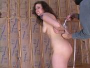 Teen Hazel gets bound in bdsm play