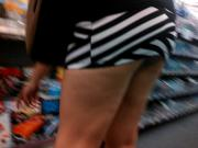 Up skirt, no panties at the CVS