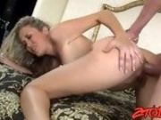 Horny Alana Evans gets that tight pink ass boned by a monster boner
