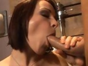 Sulty Milf Dana DeArmond slobbers on a beefy meat pole