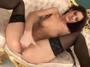 Bitchy hot Leanna Sweet pumps her deep snatch with those filthy slender fingers