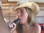Busty whore Kelly Divine enjoys a monster black cock entering her juicy mouth