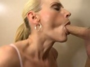 Blonde milf Darryl Hanah enjoys taking a meaty stiff cock in and out her mouth