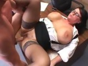 Lusty Indianna Jaymes spreads her tighs apart to get real boned deep