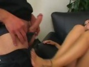 Juila Bond Tongues And Sucks Ridged Pole And Wanks It Off  With Her Sexy Feet